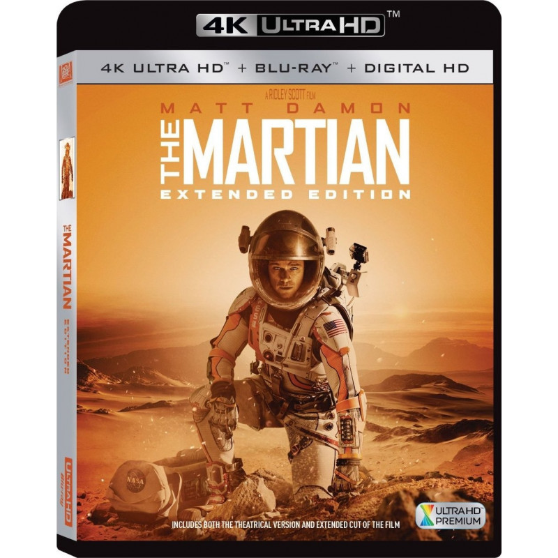 MARTIAN EXTENDED EDITION (ULTRA HD BLU RAY)