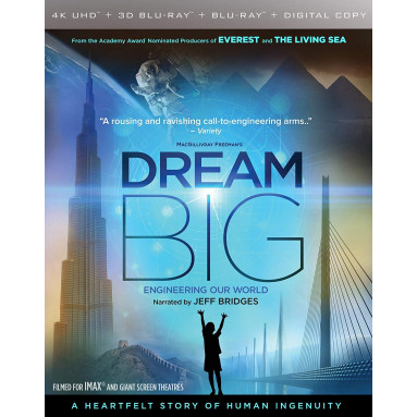 DREAM BIG (ULTRA HD BLU RAY + 3D)