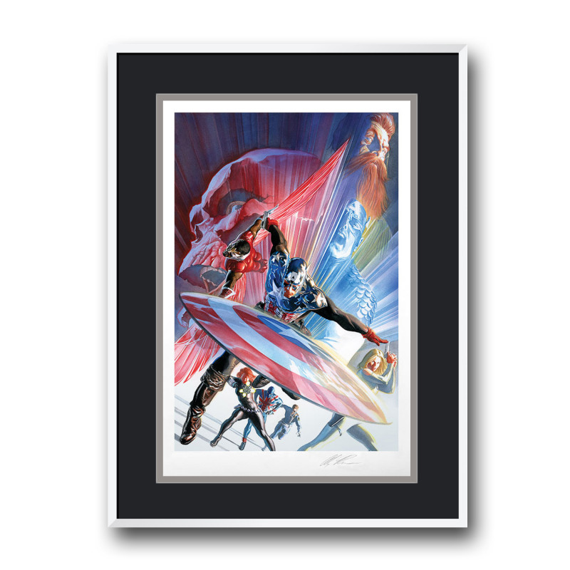 ART PRINT CAPTAIN AMERICA