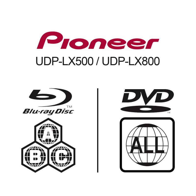 MULTI-REGIONS PIONEER UDP-LX500 & UDP-LX800 KIT