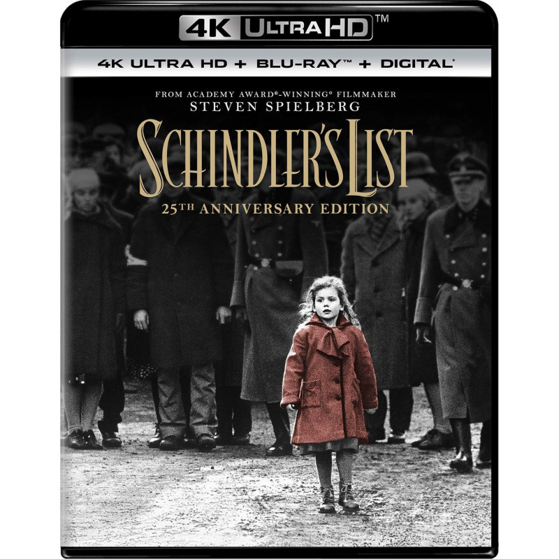 SCHINDLER'S LIST (ULTRA HD BLU RAY)