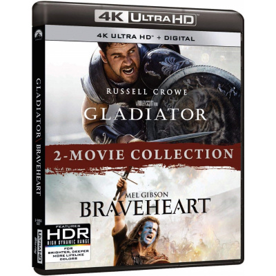 GLADIATOR/BRAVEHEART (ULTRA HD BLU RAY)