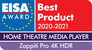 EISA Award Zappiti Pro 4K HDR